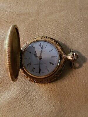Vintage Ever-Swiss 17 Jewels Mechanical Wind Up Pocket Watch Shock Resistant