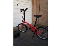 Folding bike. BTwin (made by Decathlon).