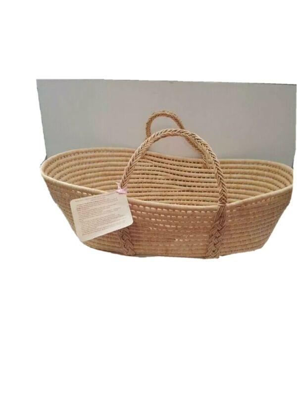 Handmade Nursery Natural Palm Leaf Moses Baby Bassinets Basket