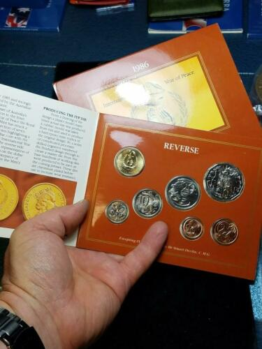 1986 Royal Australia Uncirculated 7 Coin Collection
