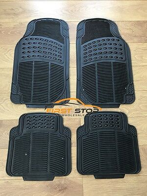 FORD FUSION ALL YEARS HEAVY DUTY UNIVERSAL RUBBER CAR FLOOR MATS 4PC