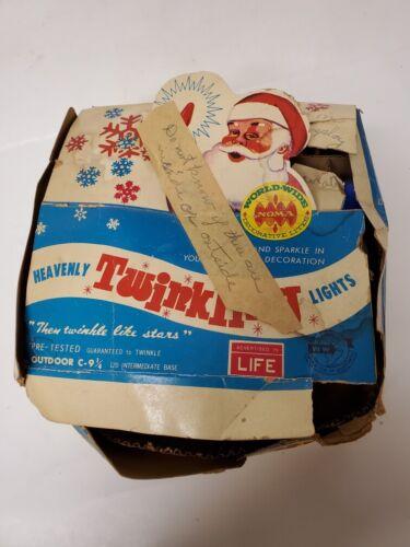 Vtg NOMA World Wide C-9 1/4 Heavenly Twinkle Christmas Lamps Lights Original Box