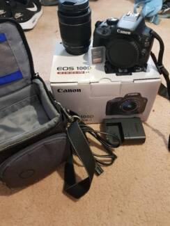 Canon EOS 100D Camera & Memory Card &Protective Carry Bag