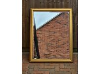 Large Gold-Gilt Style Frame Wall Mirror Vanity 113.5cm x 88cm
