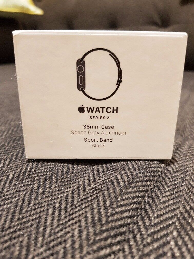 Apple Watch Series 2 38mm Space Grey Aluminium Case Black Sport Band Excellent Condition £210 ONO