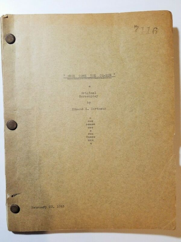 ABBOTT AND COSTELLO Here Come The Co-Eds/1945 Original Screenplay