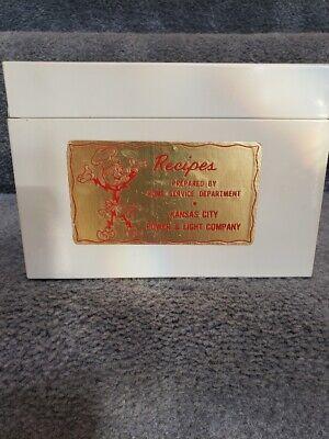 KCP&L REDDY KILOWATT VINTAGE RECIPE BOX
