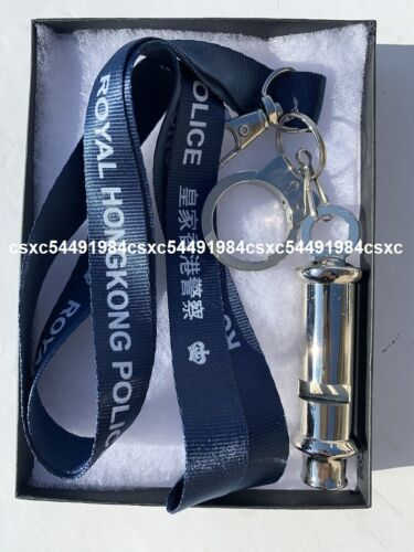 Stainless steel Whistle & neckstrap #1- Royal Hong Kong Police neckstrap&whistle