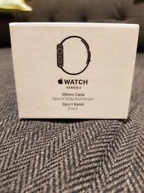 Apple Watch Series 2 38mm Space Grey Aluminium Case Black Excellent Condition, £210 or nearest offer