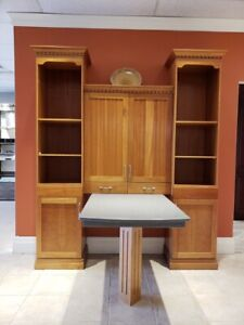 Cabinet unit with built in corian table