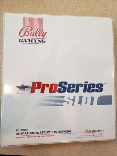 Bally Pro Series slot machine manual - Full
