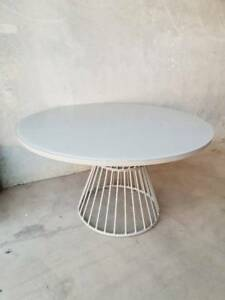 Osprey 140cm Round Glass Dining Table in Taupe Loganholme Logan Area Preview