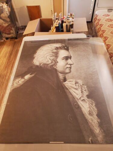 "Vintage Wolfgang Amadeus Mozart Poster 1967 29x40"" Perfect Condition"