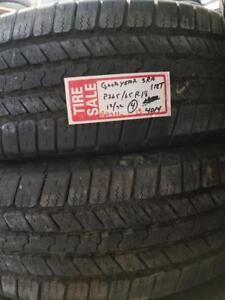 RITC TAKE OFF .. B11  13	265/65R18         112T	TAKEOFF	GY WRANGLER SR-A	12/32	4014	4	$800.00