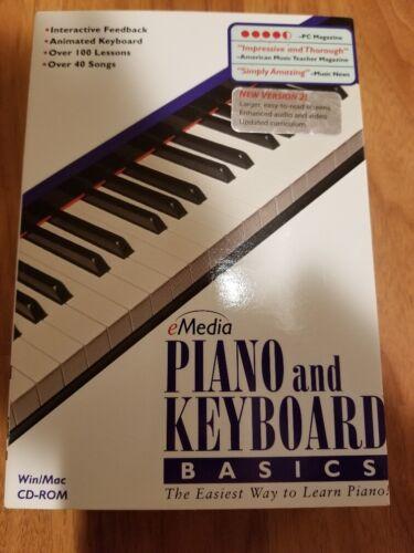 Brand New eMedia Piano and Keyboard Basics Win/Mac CD-ROM - New in Box