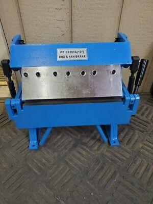 Erie Tools 12 Sheet Metal Pan Box Brake Adjustable Removeable Fingers
