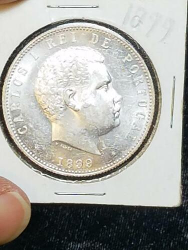 1899 Portugal 1000 Reis Super Nice Brilliant Uncirculated