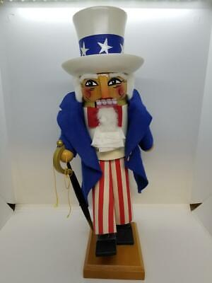 "Vintage Steinbach ES670 Uncle Sam w/ Sword 15"" West Germany Patriotic Nutcracker"