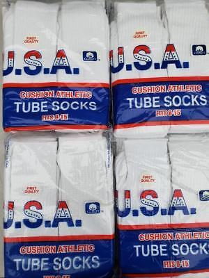 Men's Cotton Athletic Sports Tube Socks 12 Pairs