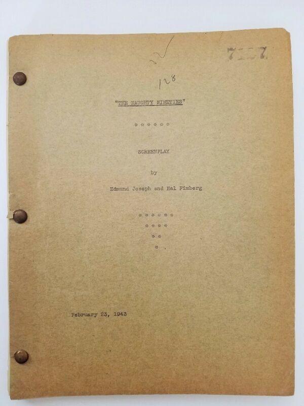 ABBOTT AND COSTELLO The Naughty Nineties/1943 Original Screenplay