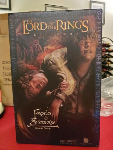 Lord of the Rings Mount Doom Frodo and Sam Diorama Statue Sideshow SUPER RARE!