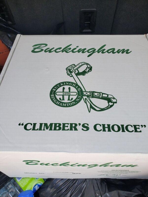 Buckingham Lineman Climbing Climbers 4-D-ring Body Belt  Size 29-32 20192CM