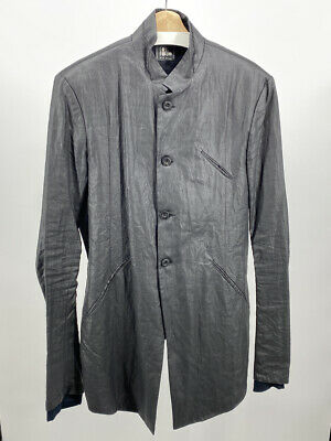 Lost & Found Ria Dunn Ramie Waxed Car Coat size L made in Italy $1800