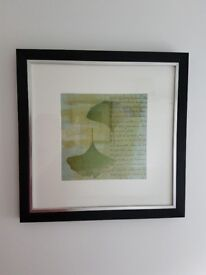 Set of two pictures in black/silver frames