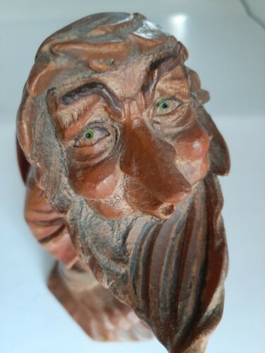 VTG. Anri Italy Wood Carved Folk Of Salvans Gnome