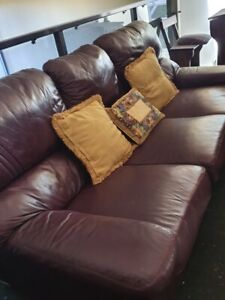 Leather couches for sale, quick sale.
