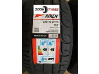 1 X TYRES RIKEN 235 40 18 Y RATED 95 EXTRA LOAD XL PERFORMANCE MADE BY MICHELIN TYRES