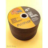 "Drill Hog 4"" Cut Off Wheel 4 Inch Cutoff Blade Metal Steel Angle Grinding 50 Pcs"