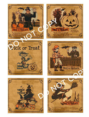 Halloween Small Jar Labels - FH137 ~ Great For Tins, Jars, Candles, Bags, Treat