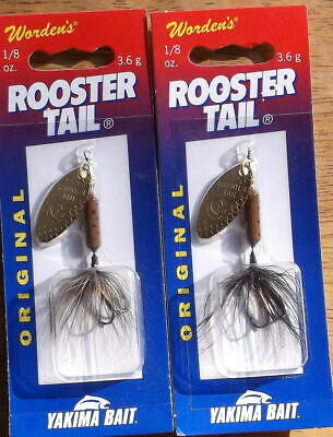 Wordens Yakima Bait 1//8 oz Bumblebee Bee Rooster Tail Spinner Fishing Lure
