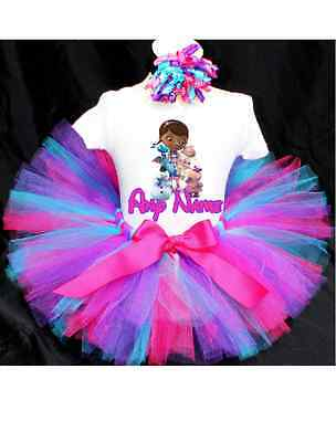 Doc Mcstuffins Birthday Outfit (Doc McStuffins Tutu Outfit Birthday Custom Any)