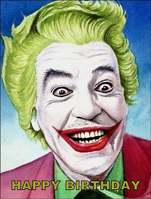 Joker Birthday Cake ( A4 THE JOKER EDIBLE ICING BIRTHDAY CAKE TOPPER)