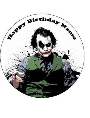 Joker Birthday Cake (THE JOKER 19cm Edible Icing Image Birthday Party Cake Topper)