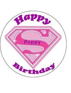 Supergirl Birthday Cake Uk