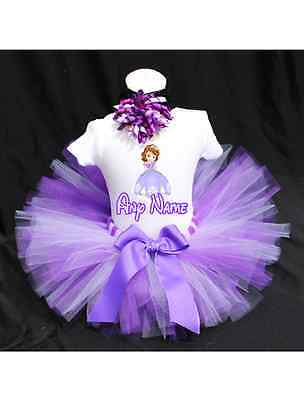 Sofia The First Tutu Outfit Birthday Custom Any Name - Sofia The First First Birthday