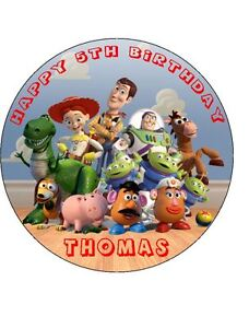 TOY STORY 19cm Round Edible Image ICING Sheet Birthday Cake Topper
