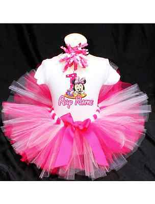 Baby Minnie Mouse Birthday Tutu Outfit Birthday Dress Up Custom Any Name - Dress Up Minnie Mouse