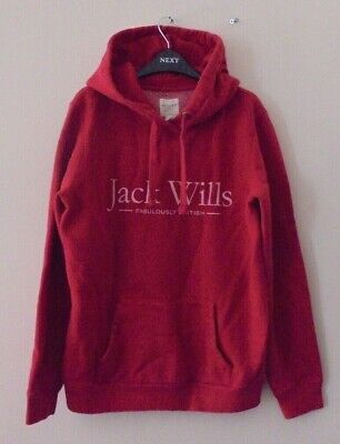 JACK WILLS LADIES STYLISH RED HOODIE SIZE 12 for sale  Shipping to Ireland