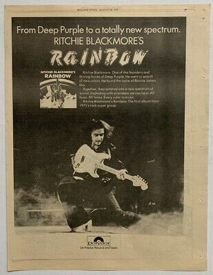 RITCHIE BLACKMORE RAINBOW 1975 vintage POSTER ADVERT Ronnie James Dio