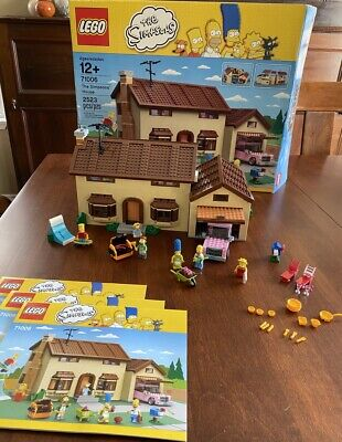 LEGO 71006 The Simpsons House 100% Complete w/ Manuals & Box Great Retired Set!!