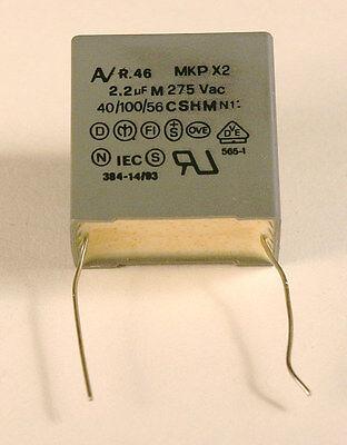 2.2uf 275v Ac Arcotronics Mkp Class X2 Capacitor - 10 Pieces