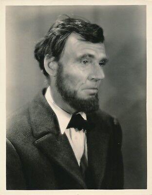 WALTER HUSTON ABRAHAM LINCOLN Original Vintage 1930 D W GRIFFITH Portrait Photo