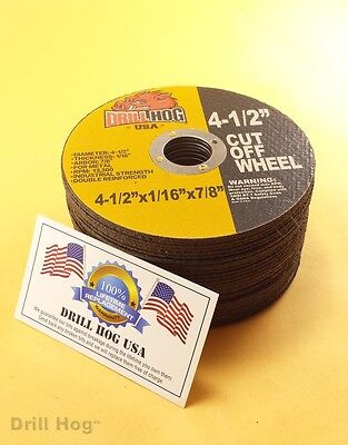 "Drill Hog 4-1/2 Cut Off Wheel 4.5"" Cutoff Blade Metal Steel Angle Grinder 50 Pcs"