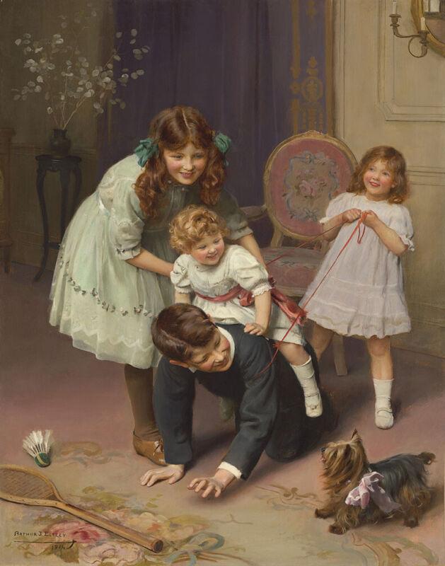 Arthur John Elsley Gee Up Canvas Print 16 x 20      #3956