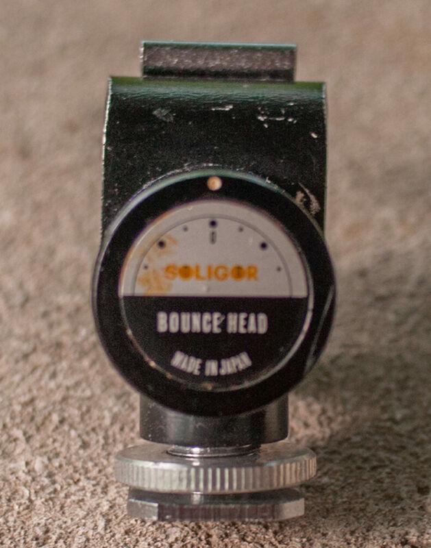 Soligor Bounce Head Film Camera Flash Bracket Attachment Rare Made in Japan Vtg