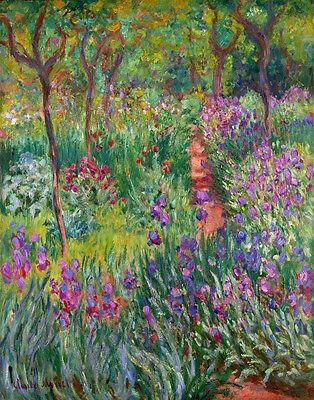 Monet Claude The Iris Garden At Giverny Print 11 x 14      #3238